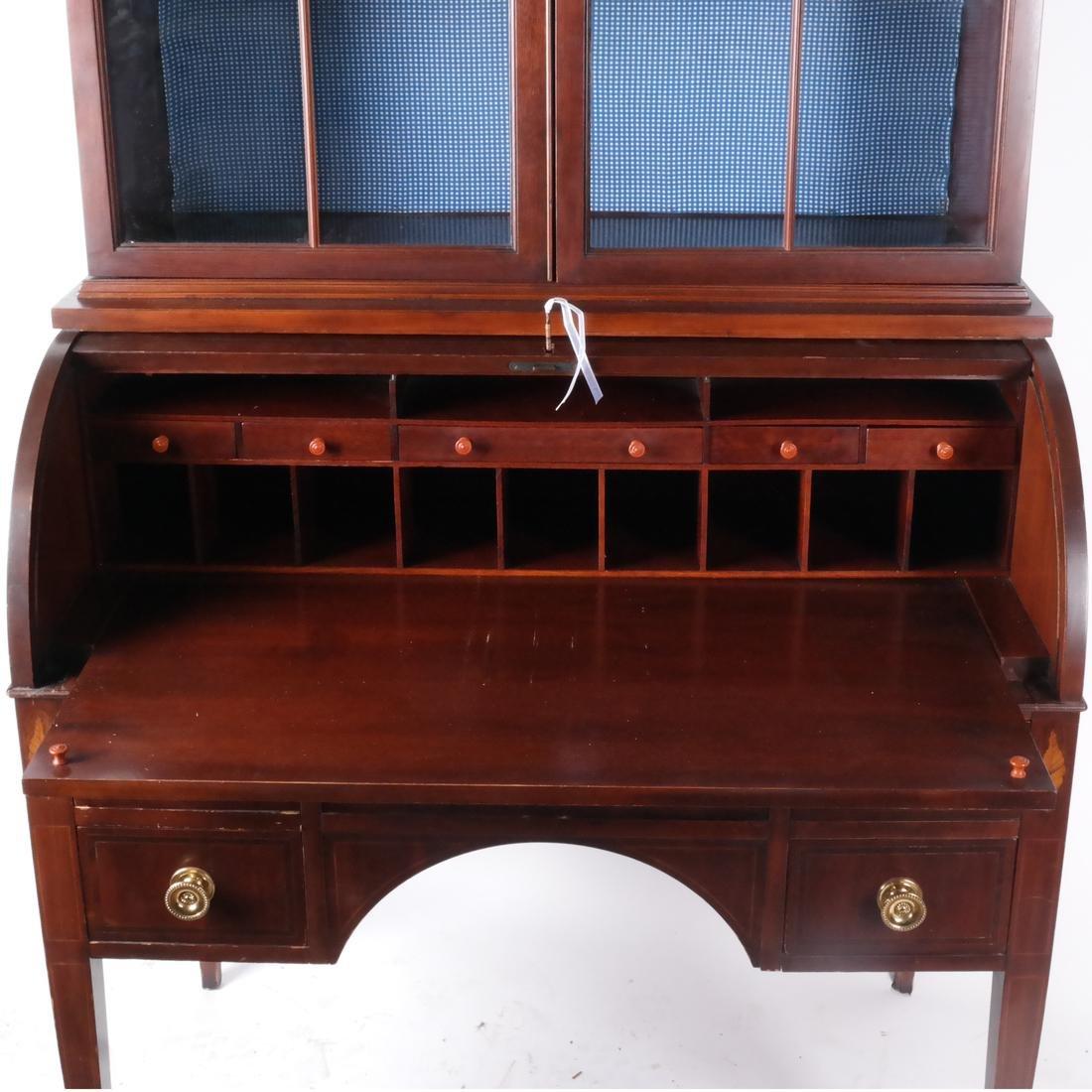 American Cylinder Roll Secretary/Bookcase - 4