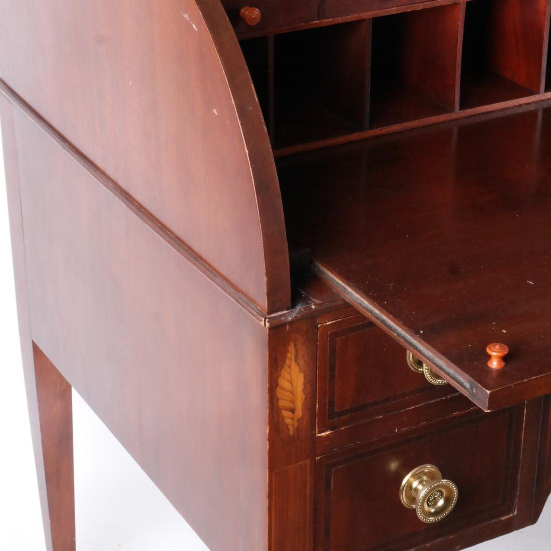 American Cylinder Roll Secretary/Bookcase - 5