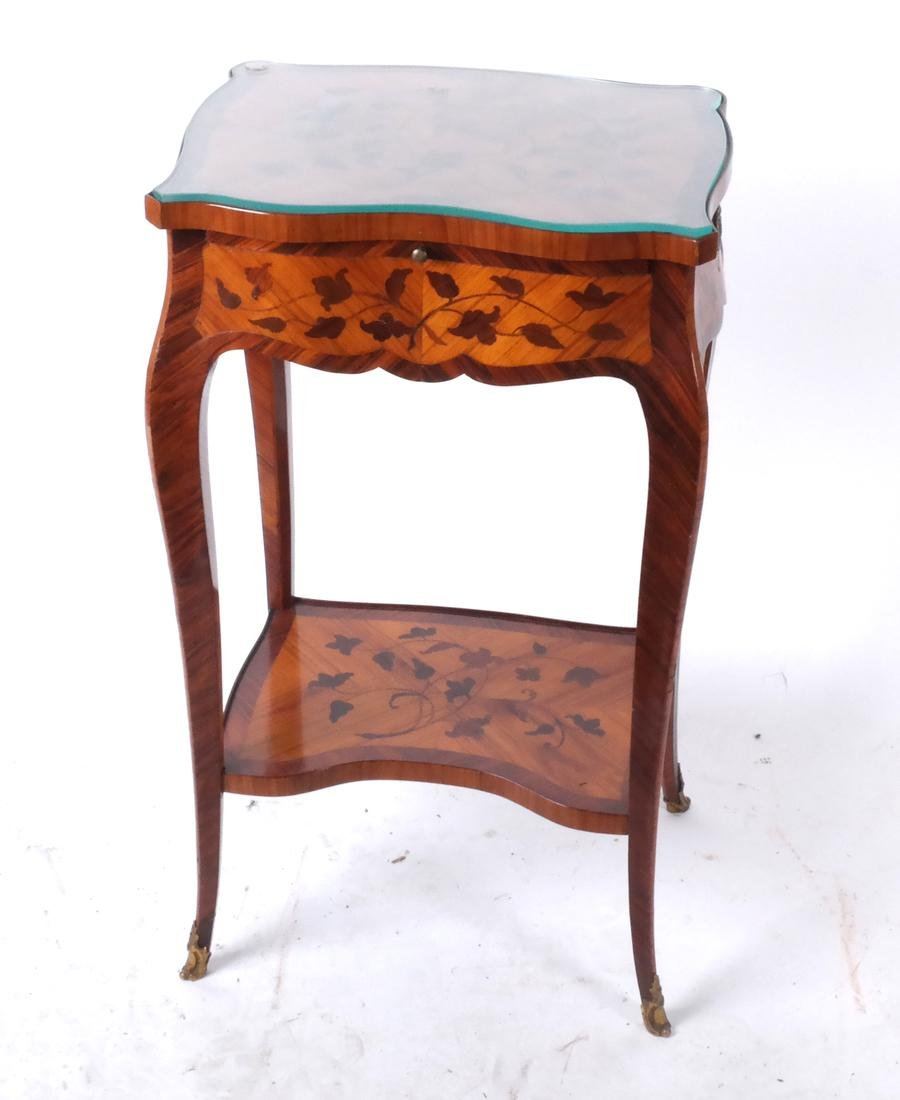 18th C. French Marquetry Table A Ecrire
