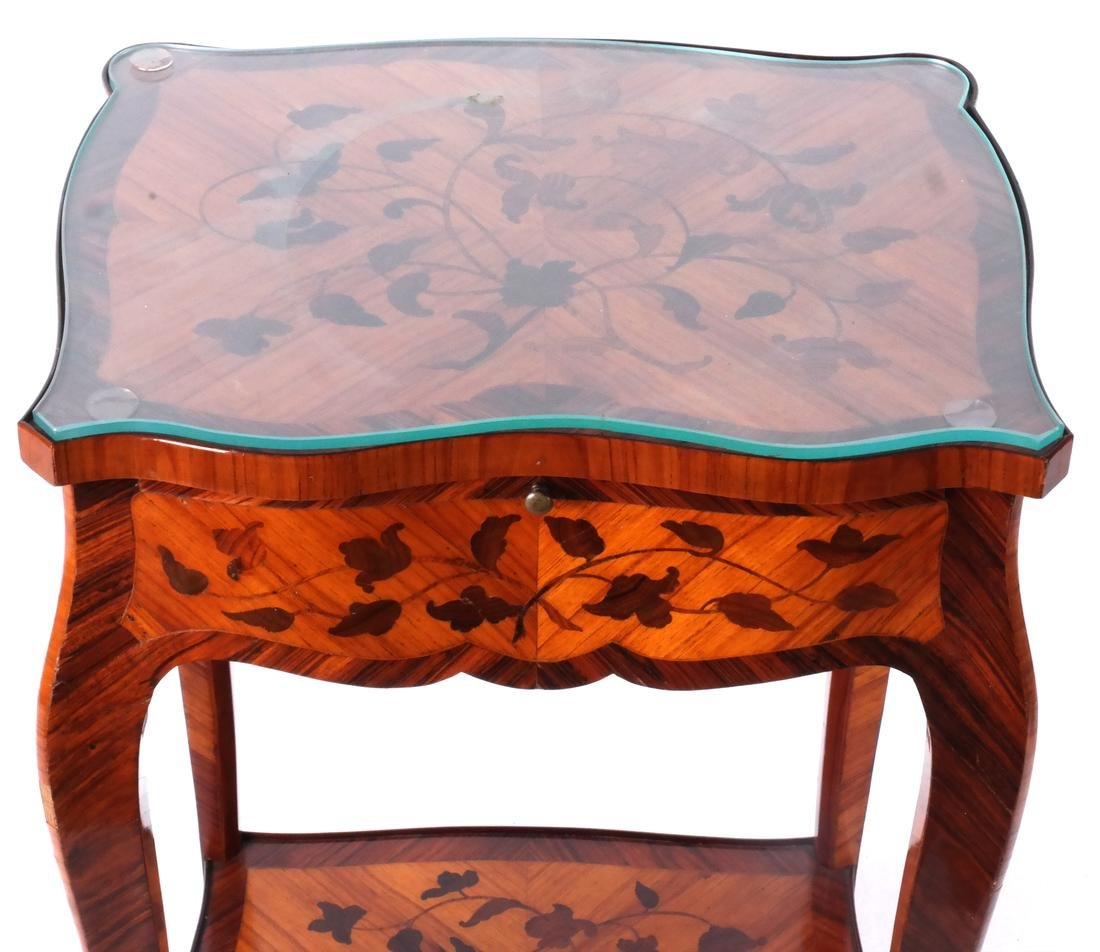 18th C. French Marquetry Table A Ecrire - 2