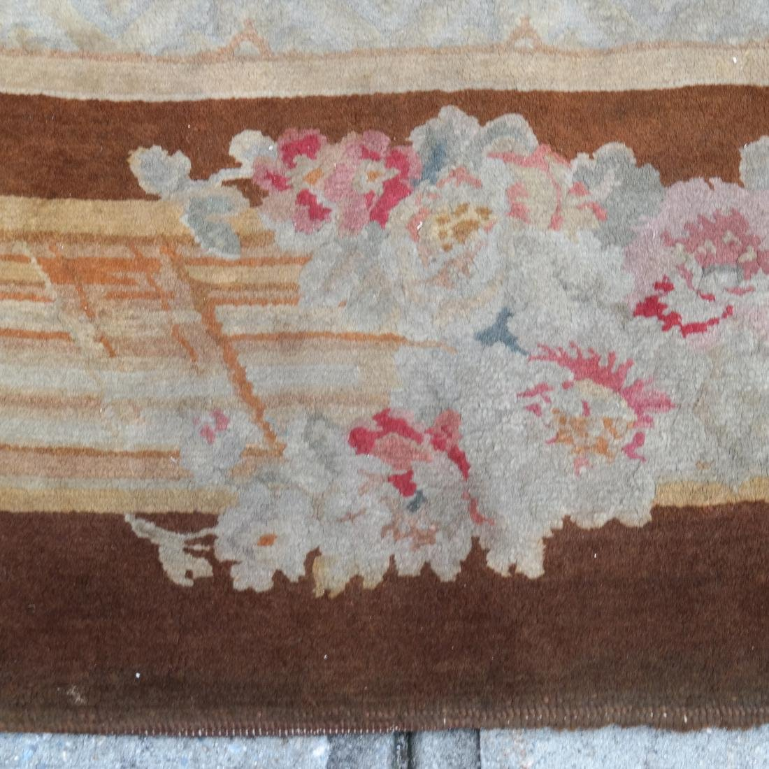 French Aubusson Floral Rug - 2