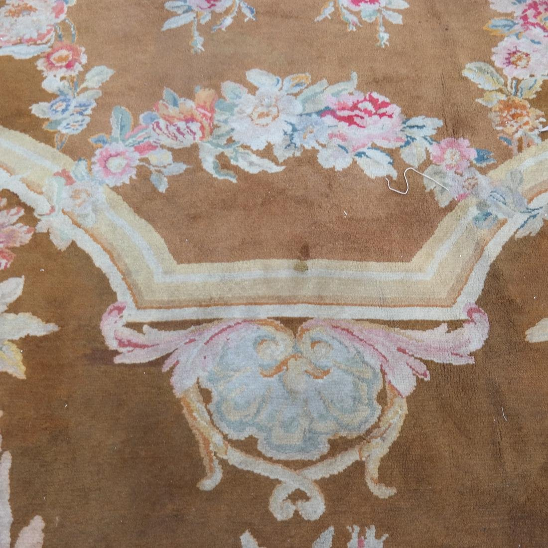 French Aubusson Floral Rug - 3