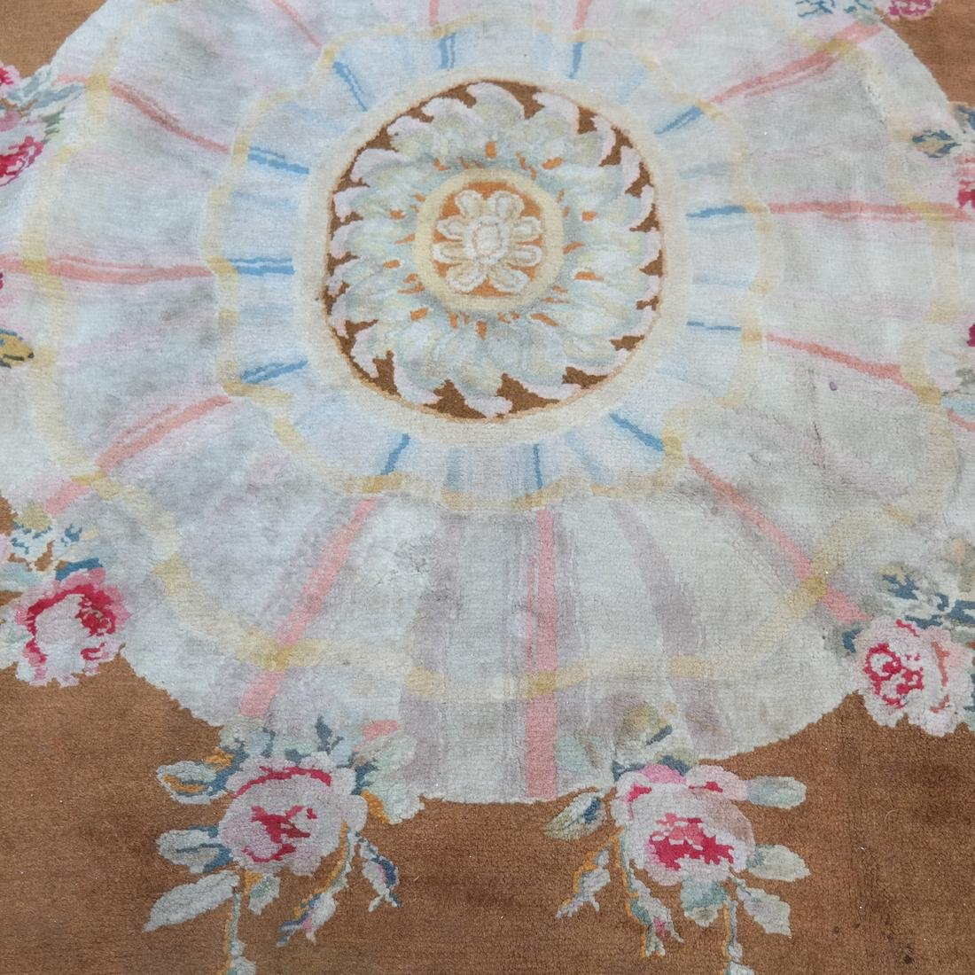French Aubusson Floral Rug - 4