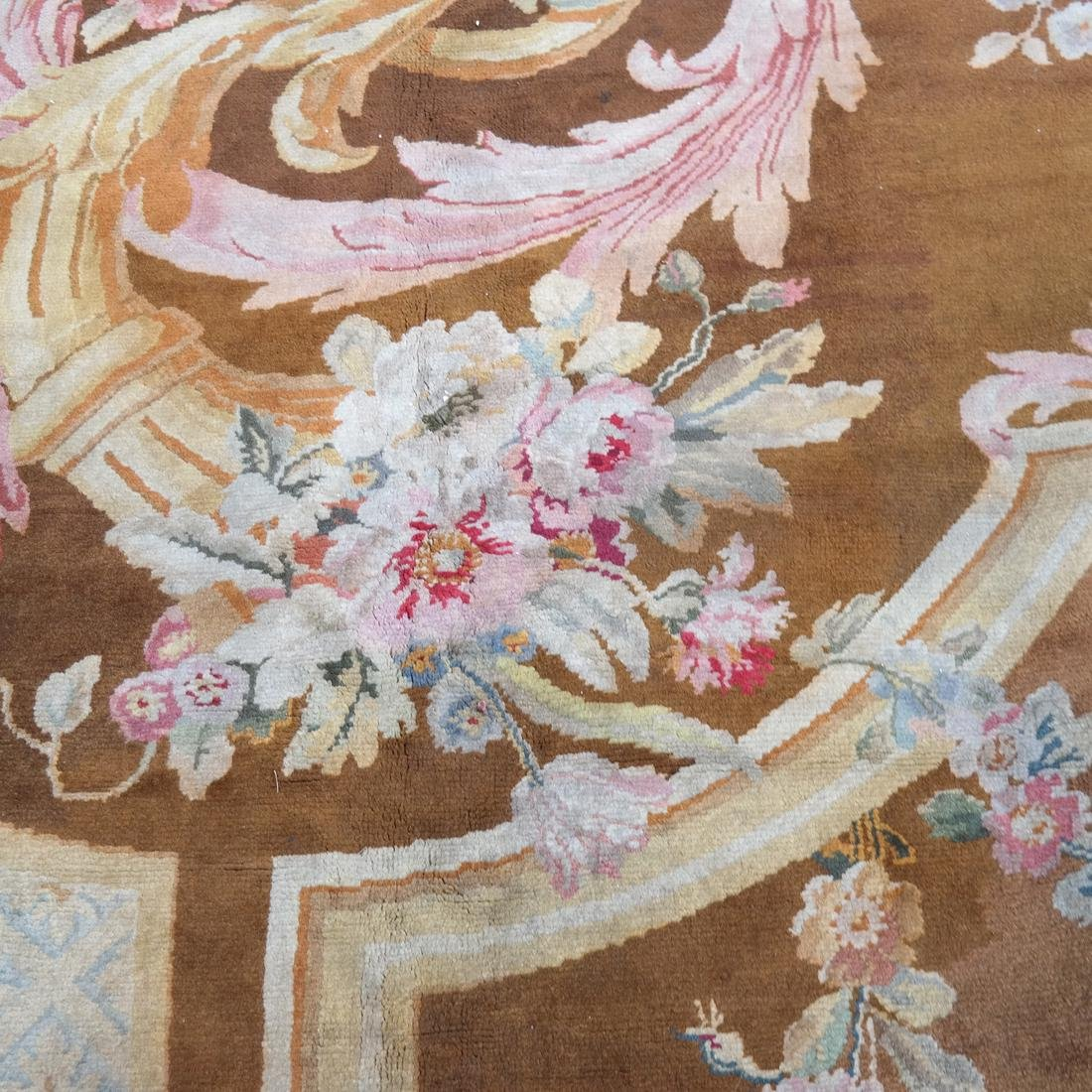 French Aubusson Floral Rug - 5