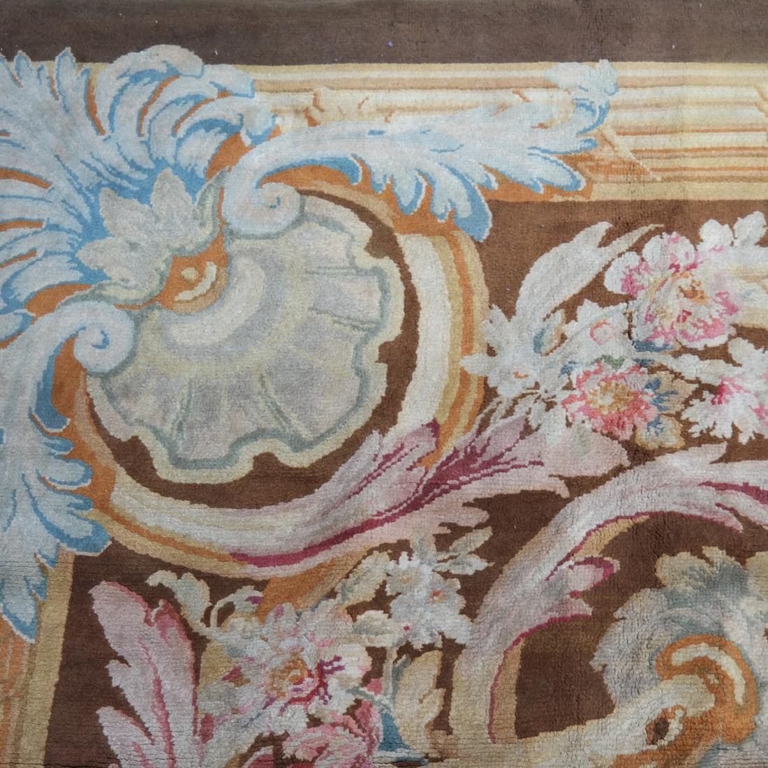 French Aubusson Floral Rug - 6