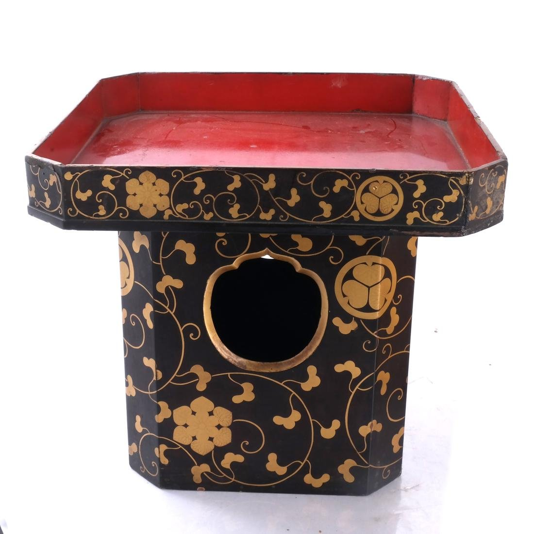 Lacquer and Gilt Asian Table and a Box - 3