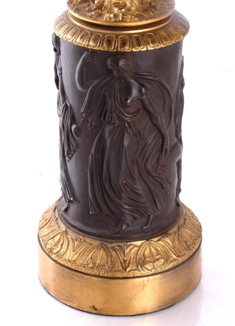Empire Gilt Decorated Lamp - 3