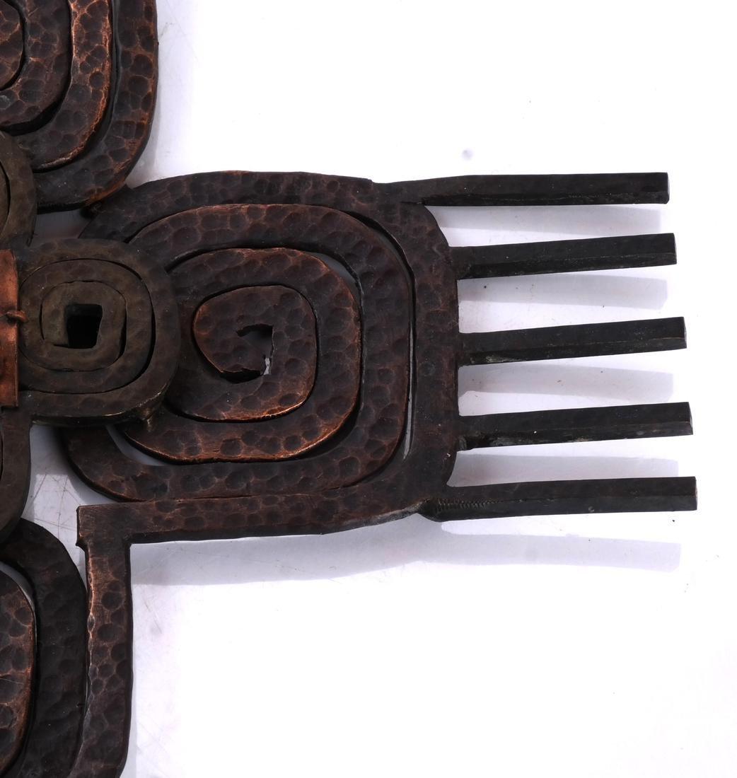 Hand-Hammered Bronze Sculpture - 3