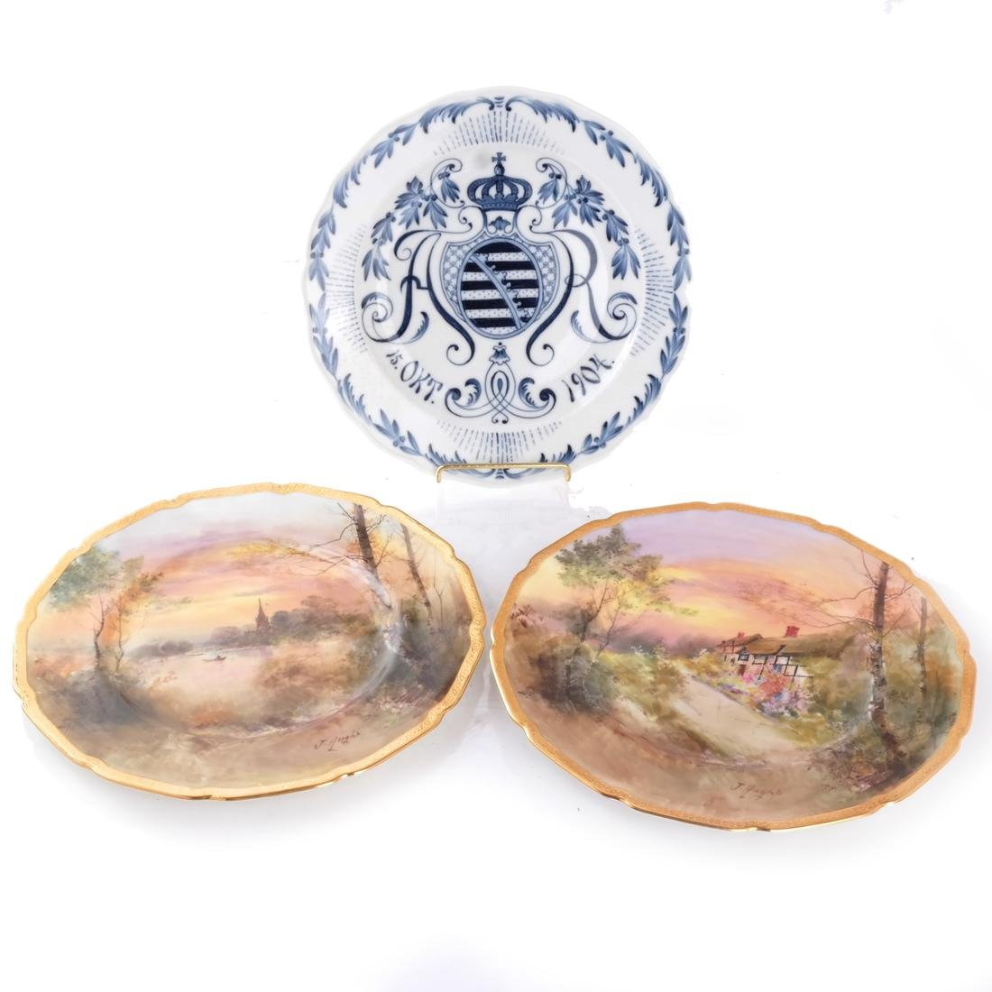 Meissen, Royal Doulton Cabinet Plates
