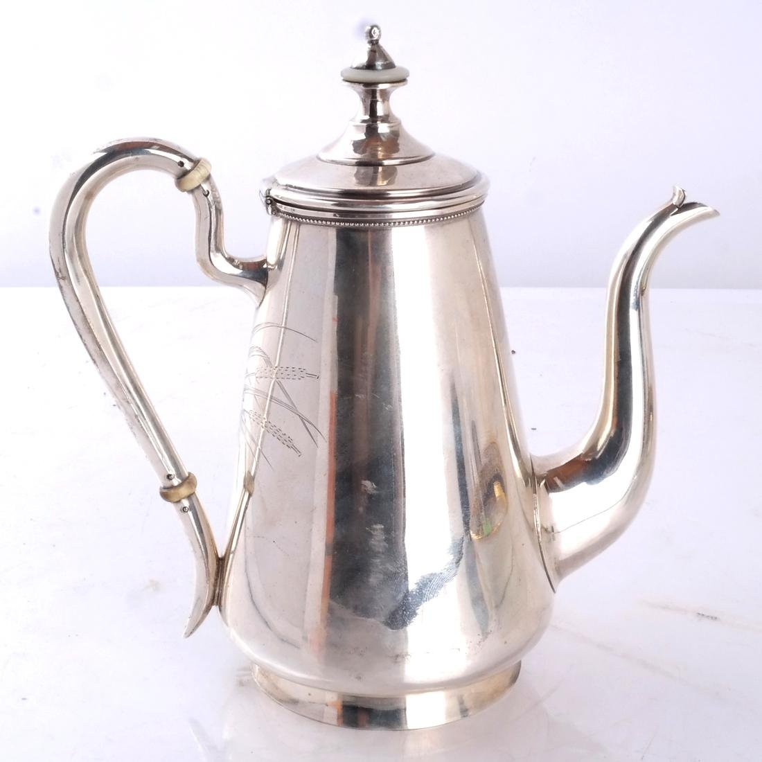 Russian Silver Teapot - 6
