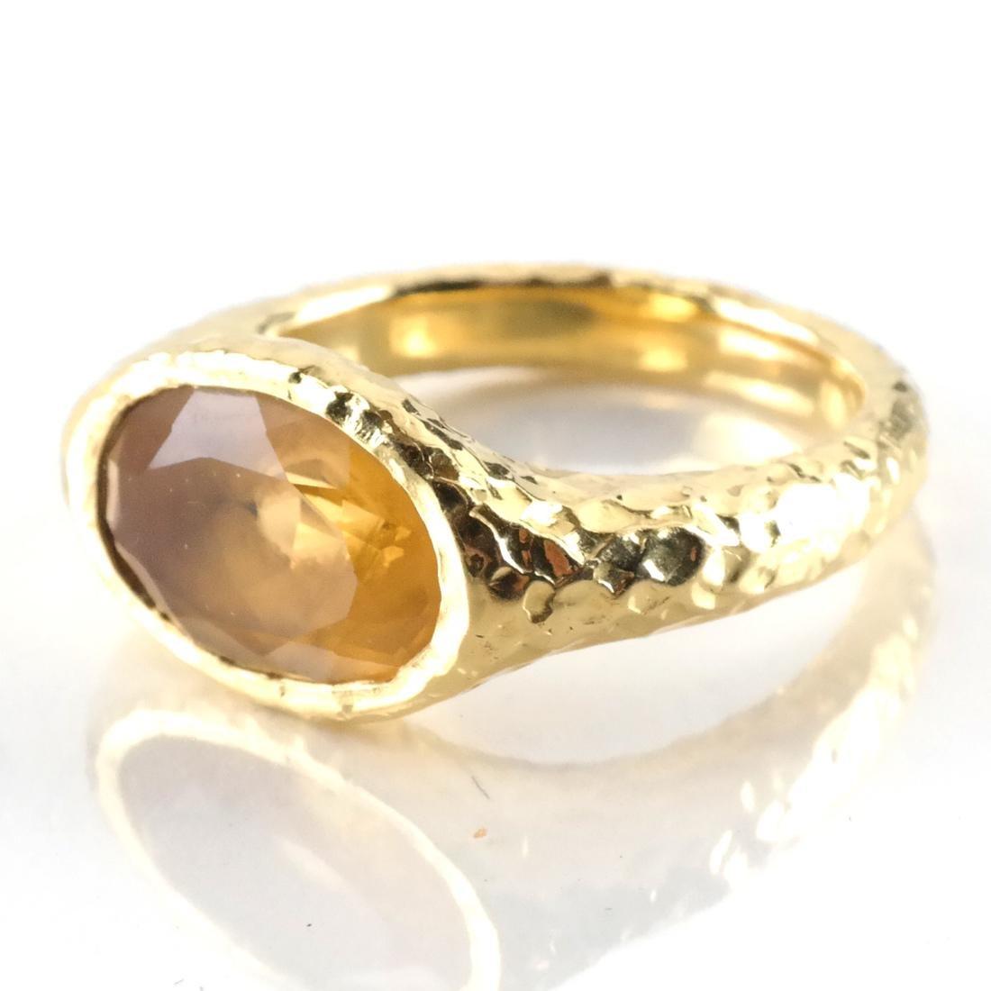 3-Piece 14k YG, Citrine Ring & Earrings - 3