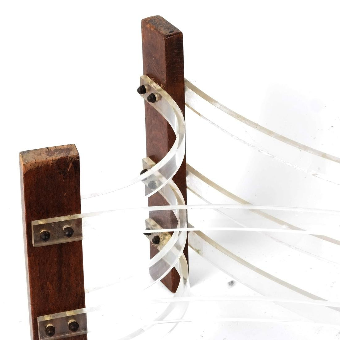 Abstract Sculpture: Wood and Plexiglas - 2