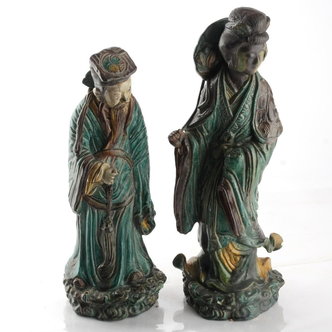 Two Chinese Qing Dynasty Figures