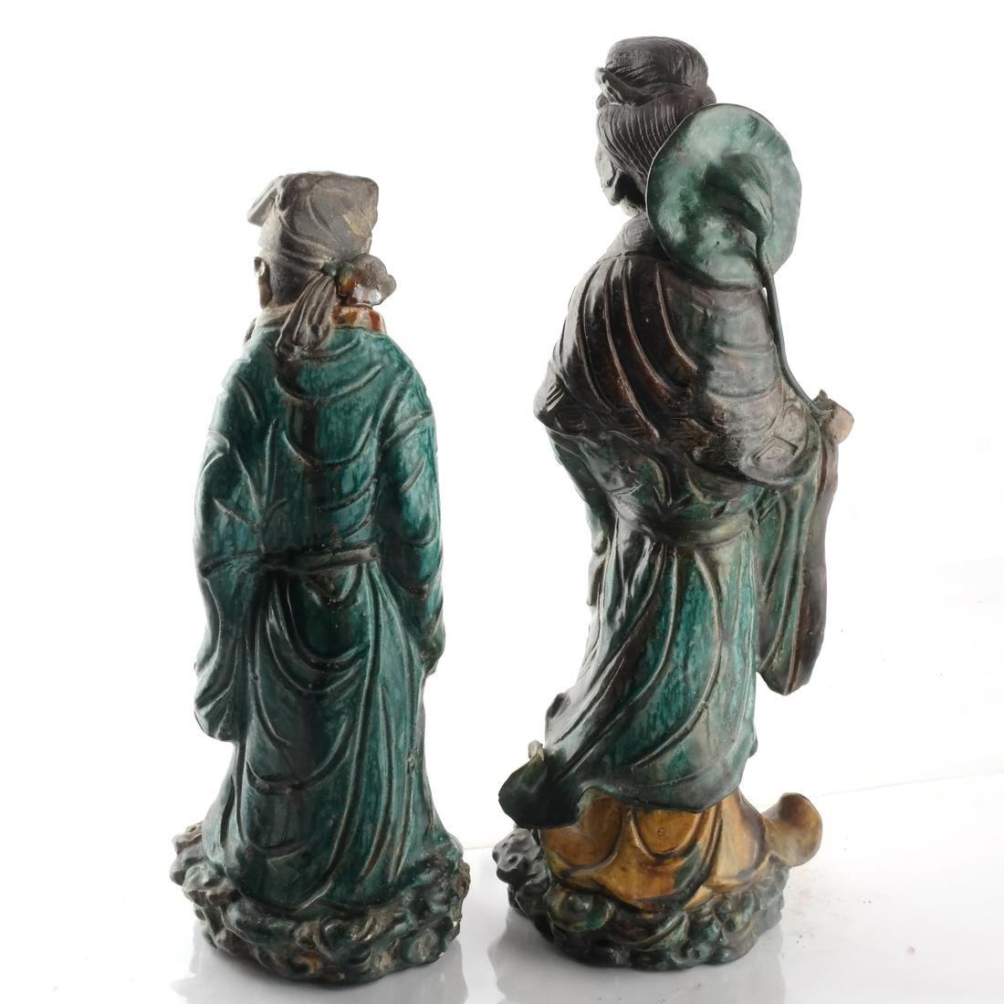 Two Chinese Qing Dynasty Figures - 3
