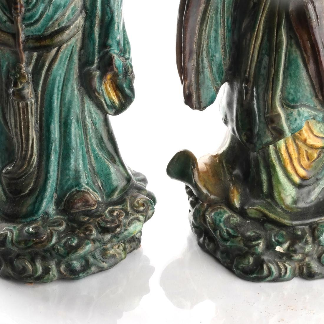 Two Chinese Qing Dynasty Figures - 7