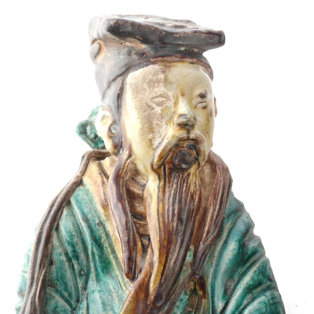 Two Chinese Qing Dynasty Figures - 8