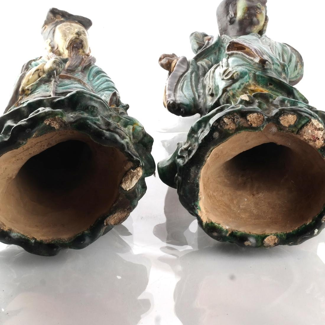 Two Chinese Qing Dynasty Figures - 9
