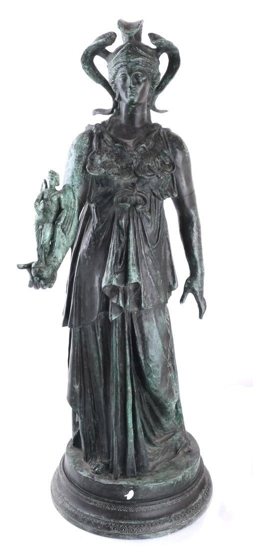 Bronze Allegorical Figure of Athena & Nike