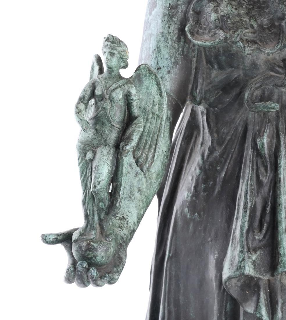 Bronze Allegorical Figure of Athena & Nike - 3