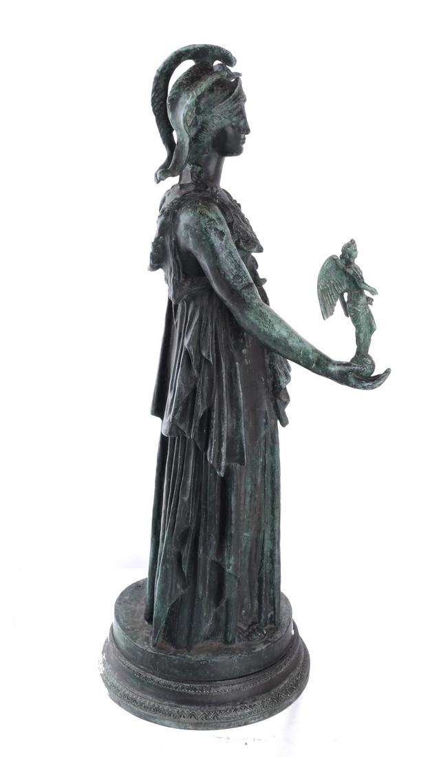 Bronze Allegorical Figure of Athena & Nike - 7