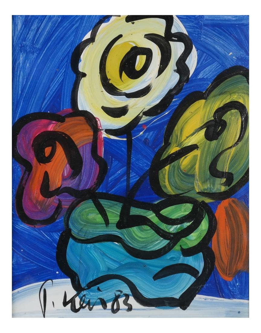 Peter Keil: Abstract Flowers, Oil/Board