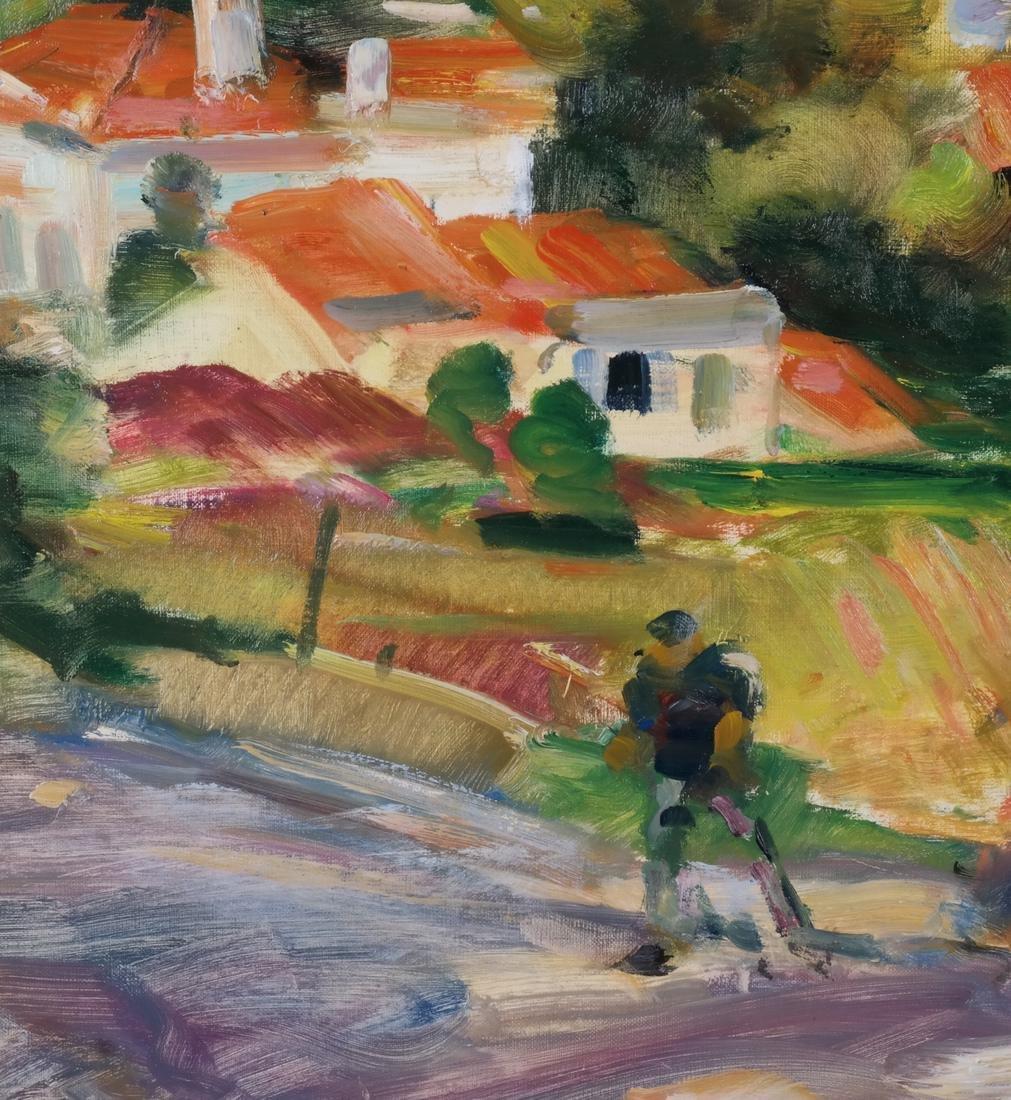 Gaston Sebire: Village Landscape, O/C - 4