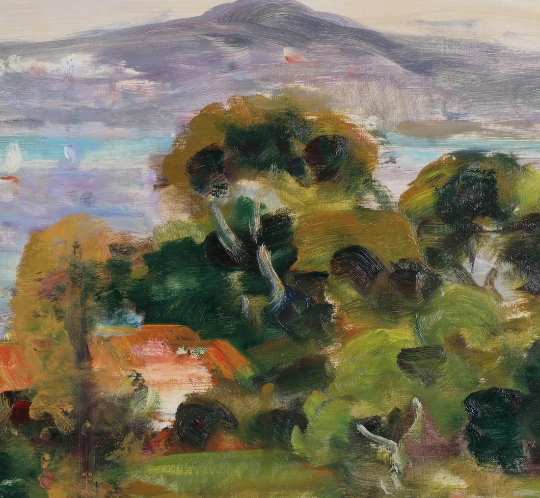 Gaston Sebire: Village Landscape, O/C - 6
