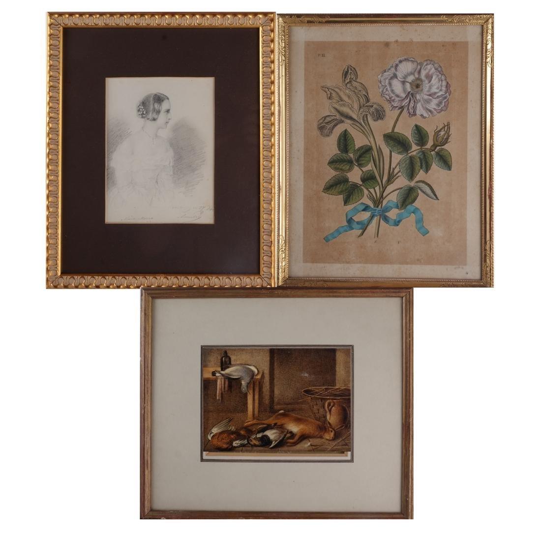 Portrait; Game Scene; Floral (3) Prints
