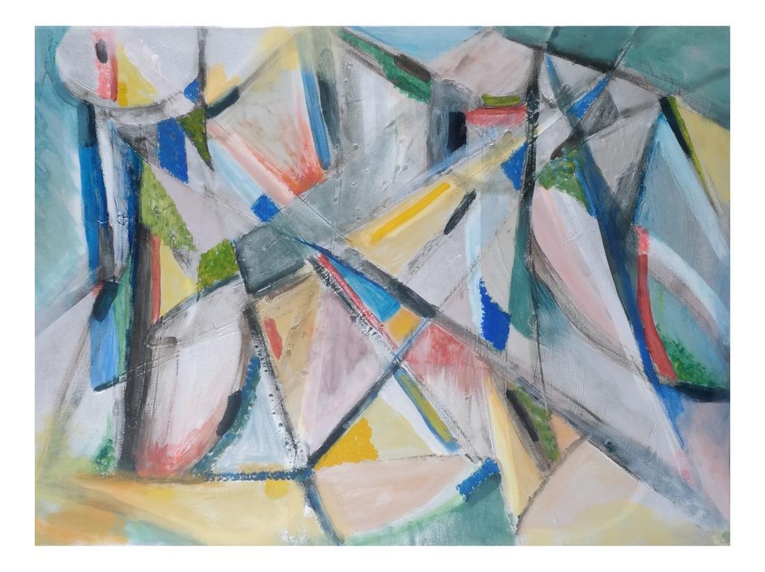 Ann Zuckerman: Abstract Oil on Canvas