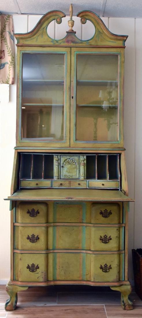 Painted & Decorated Secretary Desk
