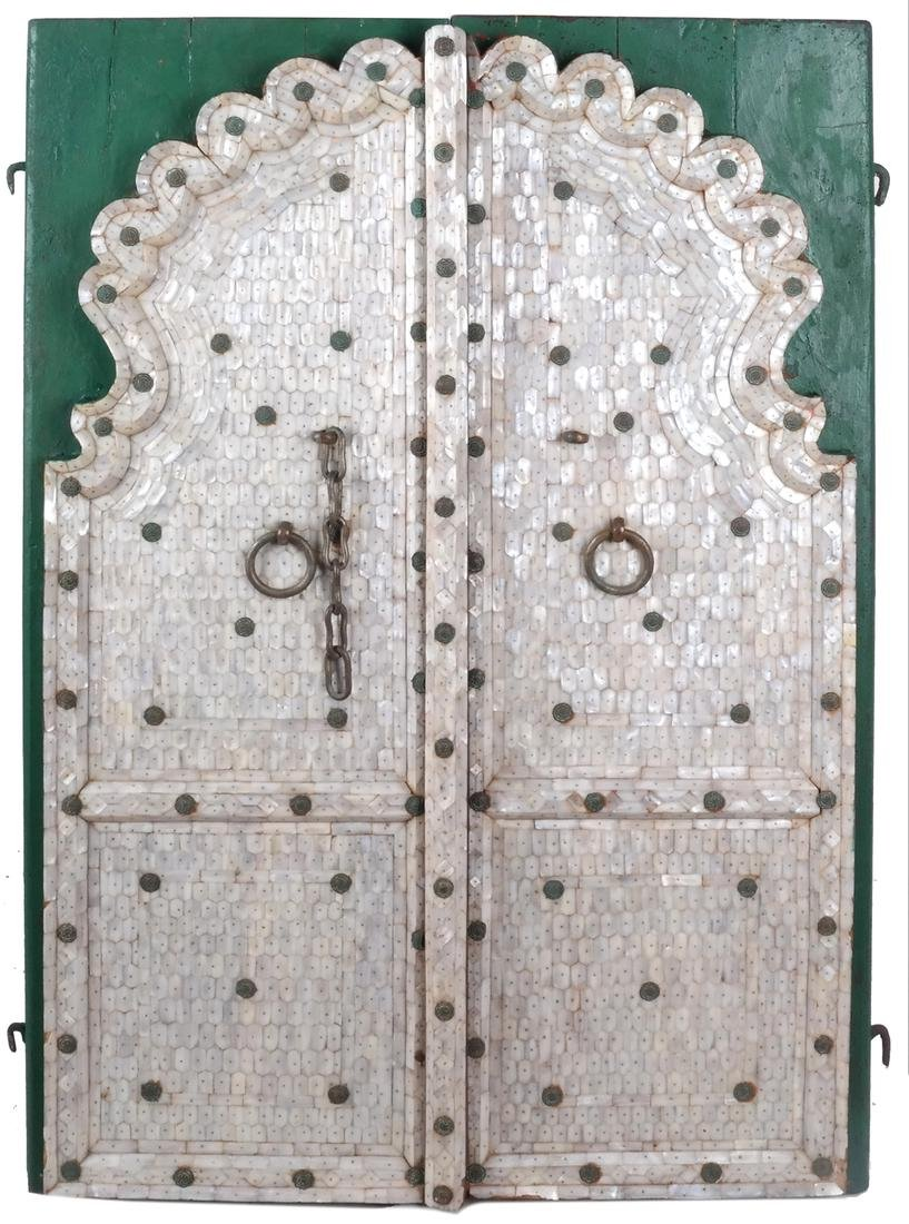 Pair of Indian Mother-of-Pearl Doors