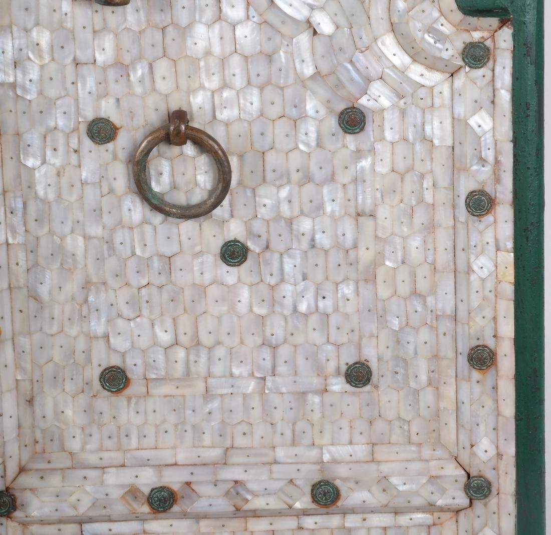 Pair of Indian Mother-of-Pearl Doors - 4