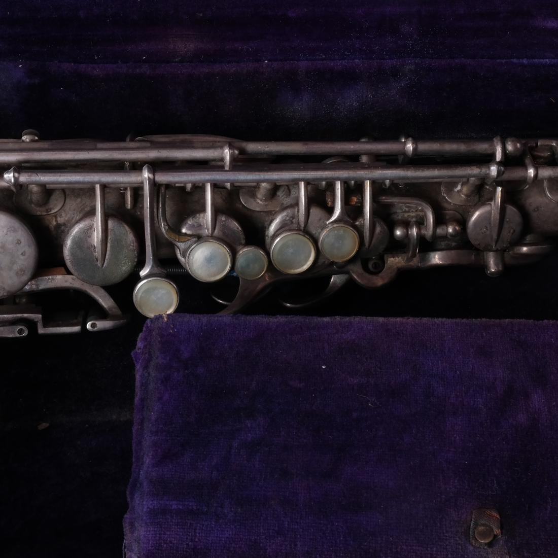 Silver Etched Saxophone by Buescher - 3