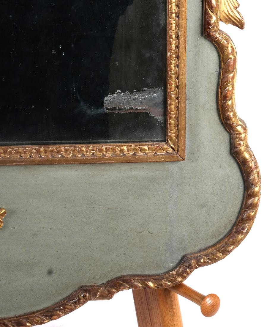 Antique Continental Painted Mirror - 3