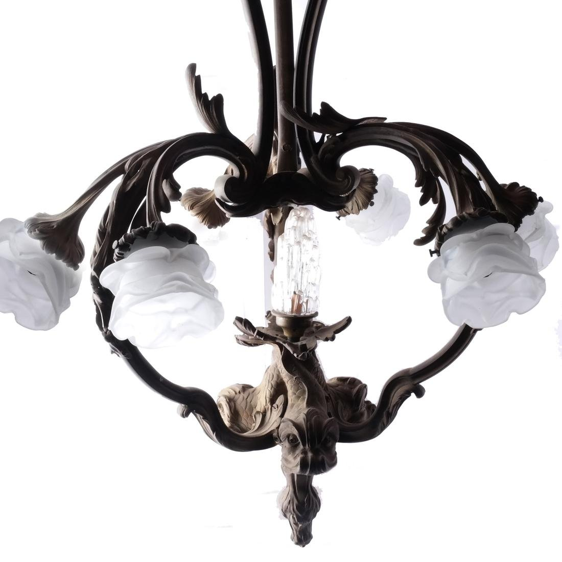 19th C. Rococo Allegorical French Chandelier
