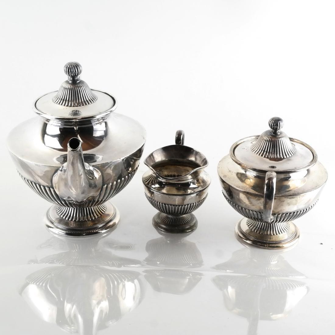 James Dixon & Sons, Silver Plate Tea Service - 7