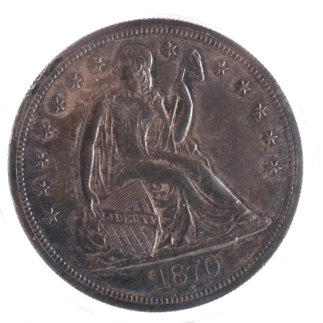 1870 Liberty Seated Dollar MS 63/64