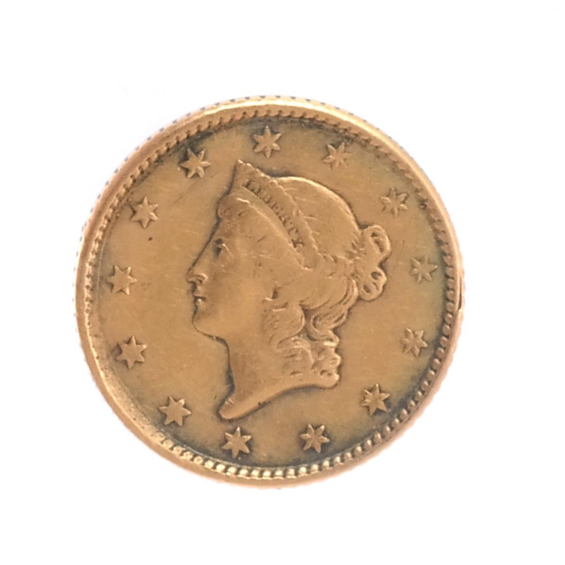 1851 $1 Gold Liberty Head Coin VF