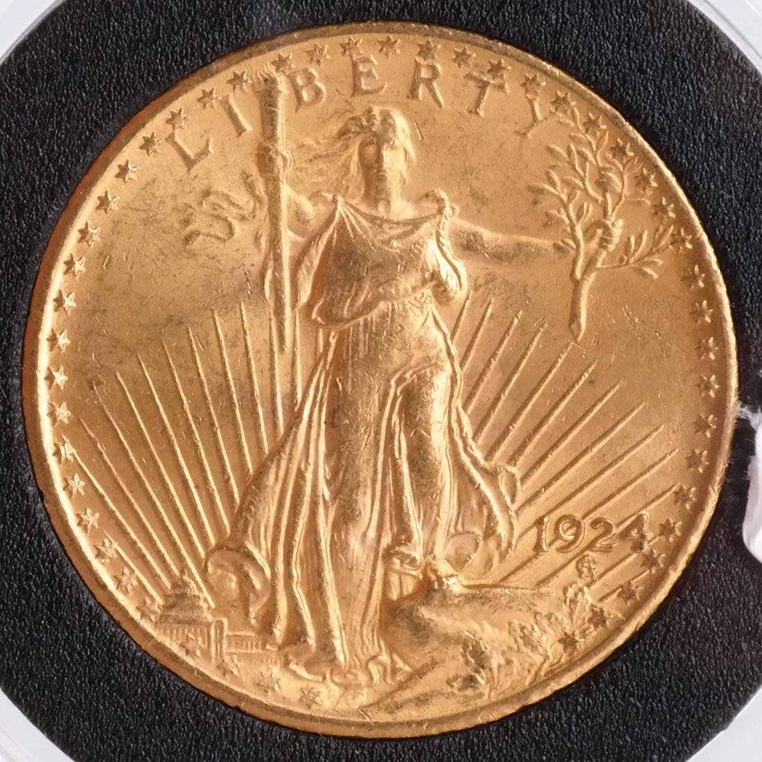 1924 $20 Gold Saint Gaudens, MS 65