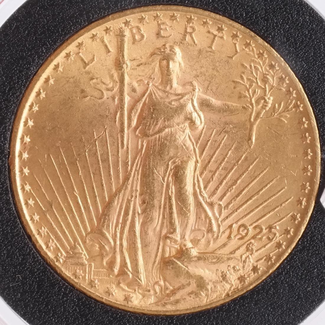 1925 $20 Gold Saint Gaudens, MS 63