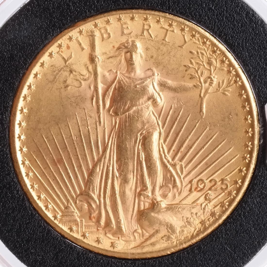 1925 $20 Gold Saint Gaudens, MS 64