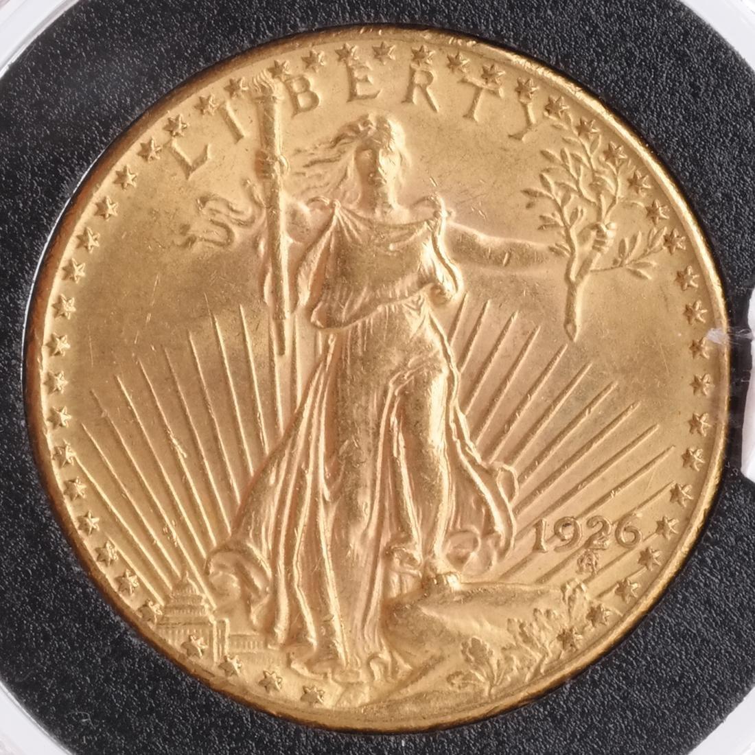 1926 $20 Gold Saint Gaudens, MS 63