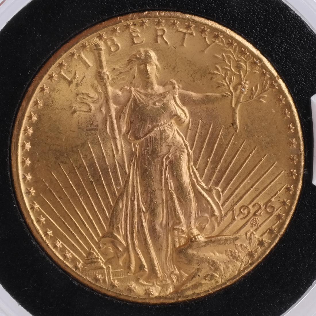 1926 $20 Gold Saint Gaudens, MS 65