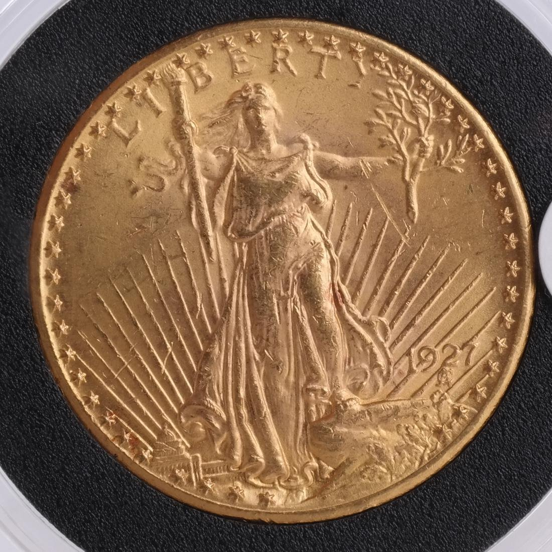 1927 $20 Gold Saint Gaudens, MS 64