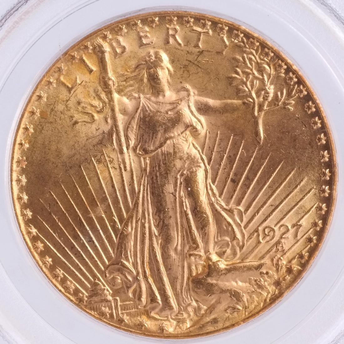 1927 $20 Gold Saint Gaudens, MS 64