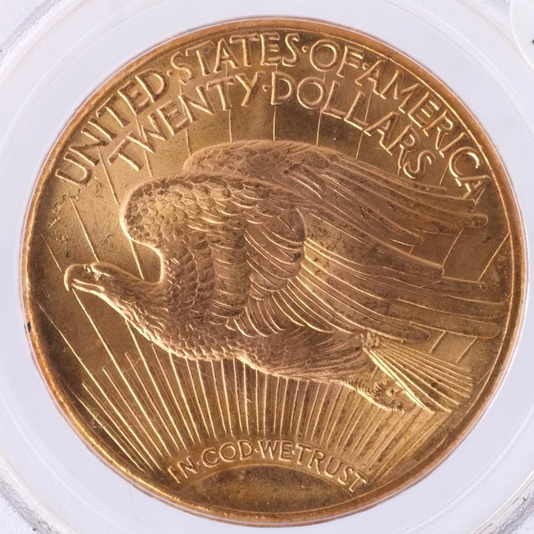 1927 $20 Gold Saint Gaudens, MS 64 - 2