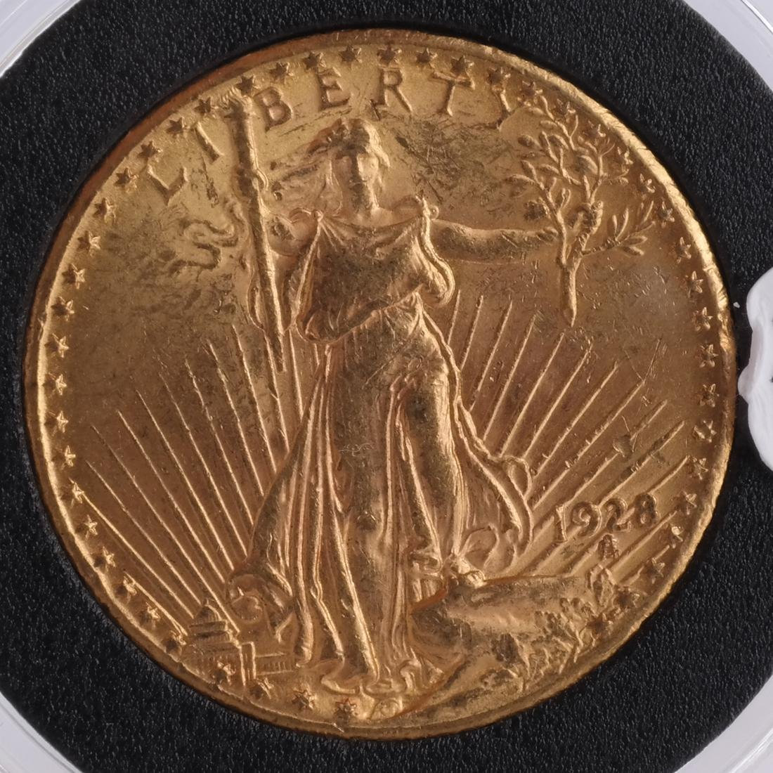 1928 $20 Gold Saint Gaudens, MS 63