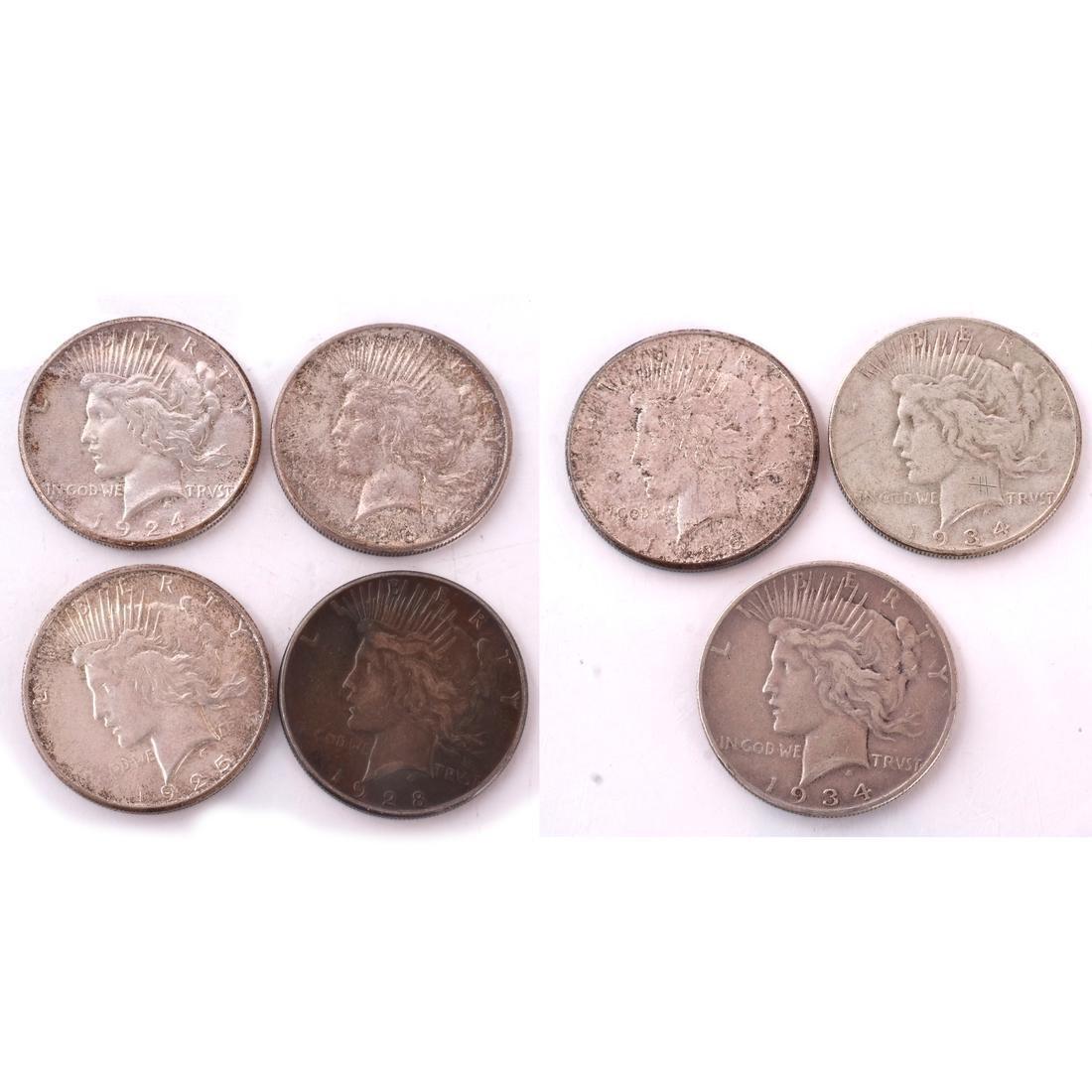 7 Peace Dollars