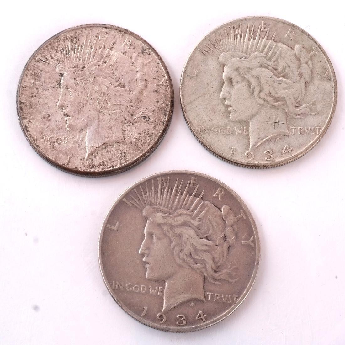 7 Peace Dollars - 4