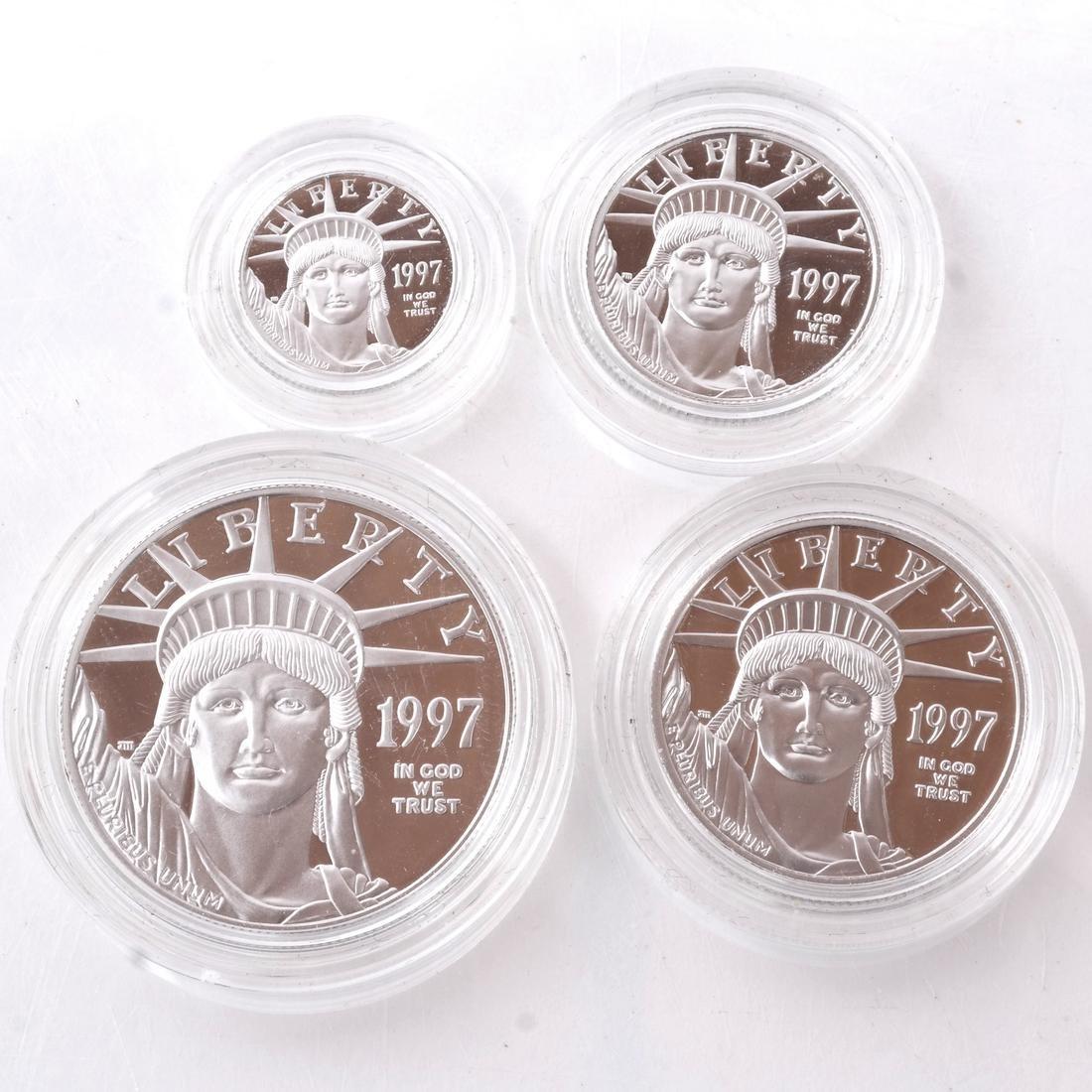 4 Platinum Proof Coins, 1997